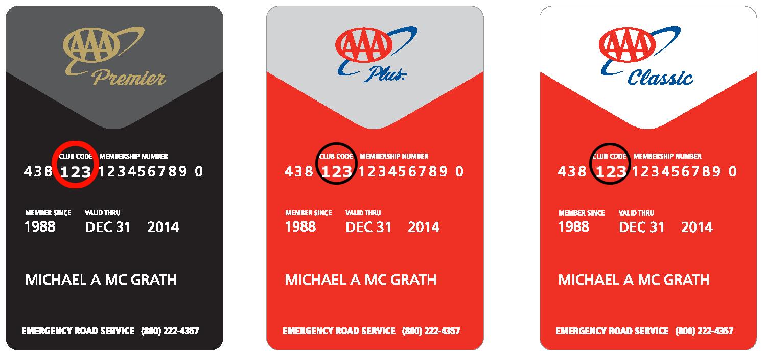 AAA Member Card Example