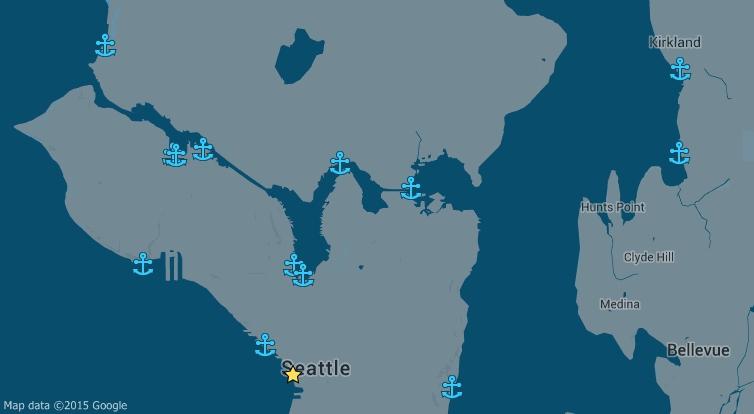 Map of Common Argosy Docking Locations