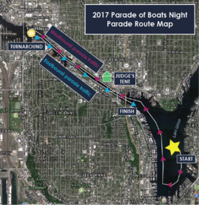 Parade of Boats - Boater Route Map (Large)