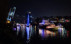 Parade Boaters Arrive to Fremont Cut