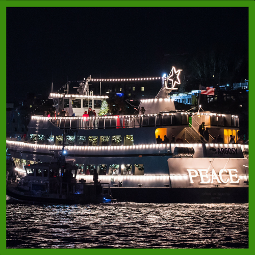 Join us aboard the official Christmas Ship™, the Spirit of Seattle, as she sails to various Puget Sound waterfront communities. Guests are accompanied by ...